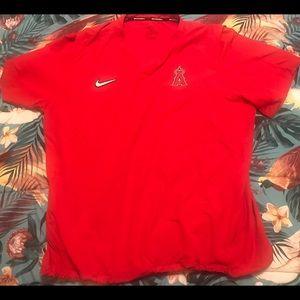 LA Angels Nike MLB Collection Short Sleeve Warm-Up